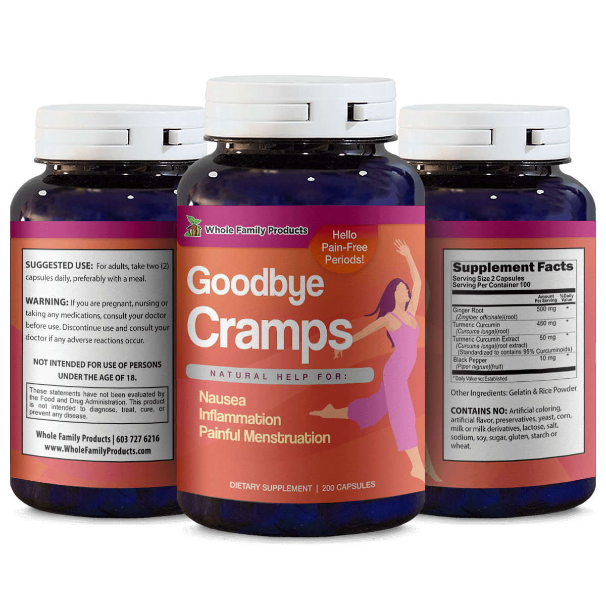 Goodbye Cramps Natural Help for Nausea and Inflammation