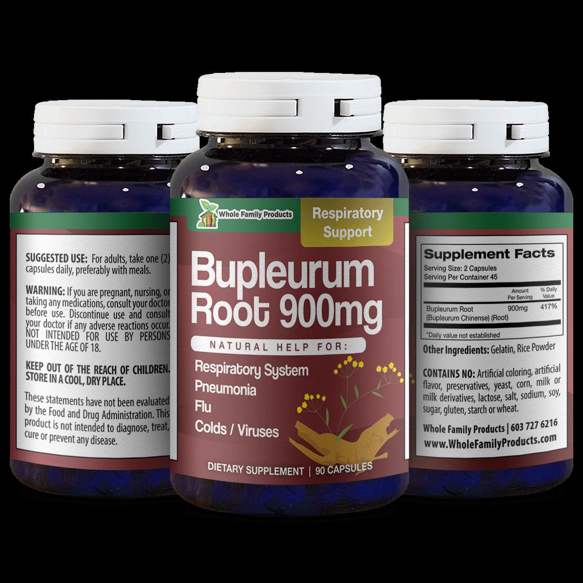 Bupleurum Root 90 Capsules Natural Help For Flu Cold and Viruses